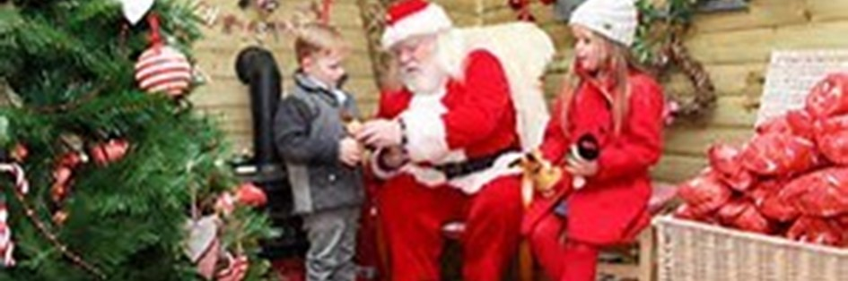 Visit Santa in his Colton Grotto