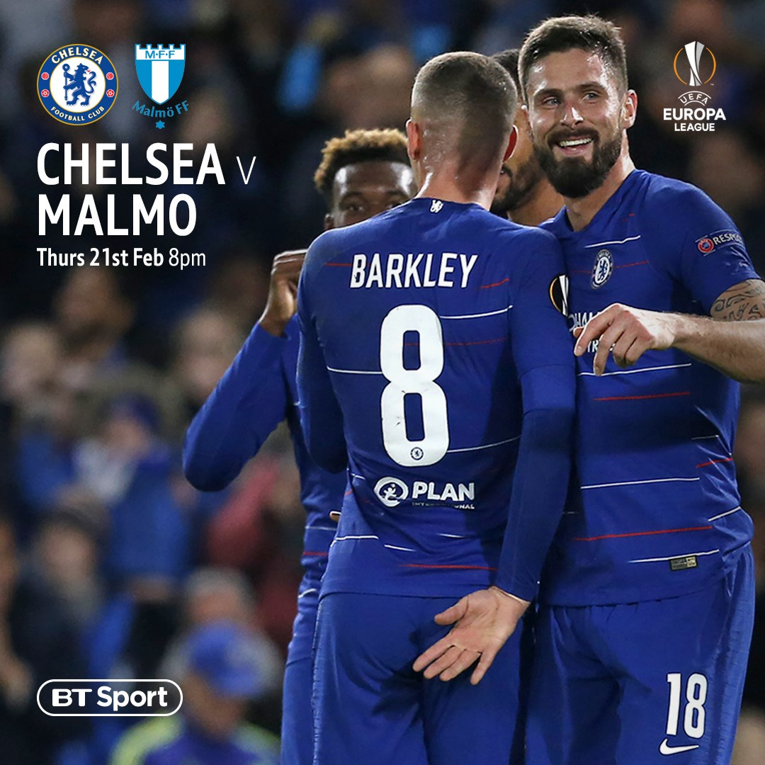 Chelsea v Malmo (Europa League)