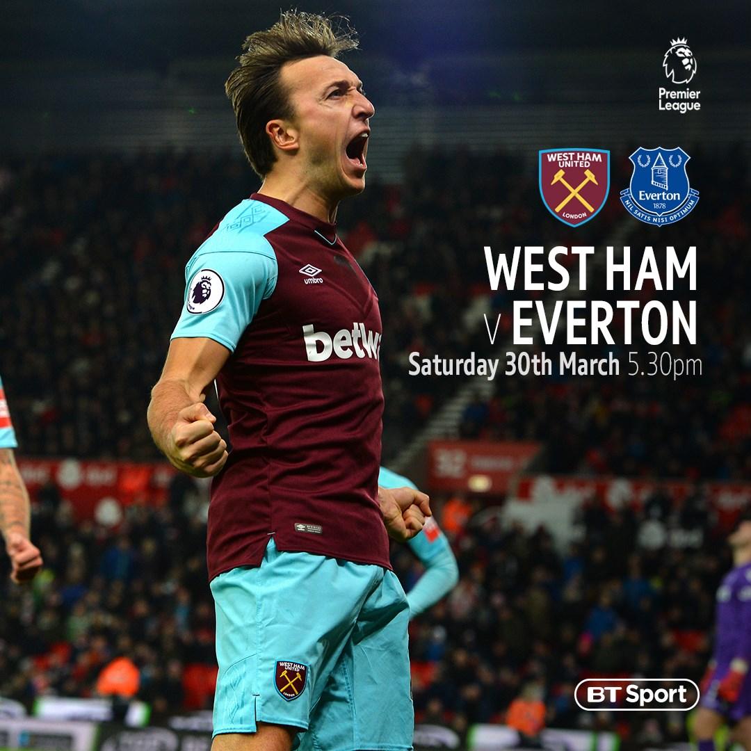 West Ham v Everton (Premier League)