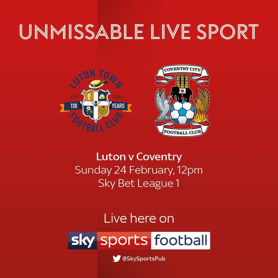 Luton v Coventry City (Football League)
