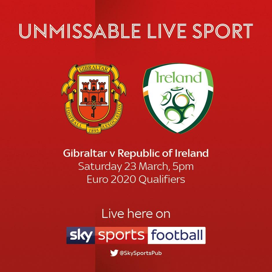 Gibraltar v Republic of Ireland (Euro 2020)