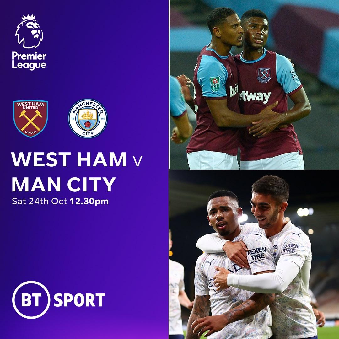 West Ham v Manchester City (Premier League)