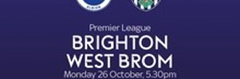 Brighton and Hove Albion v West Bromwich Albion (Premier League)