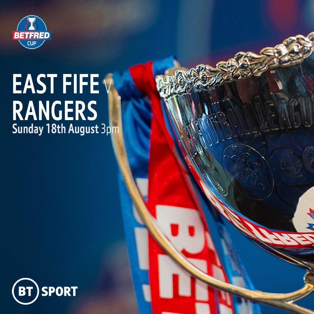 East Fife v Rangers (Scottish League Cup)
