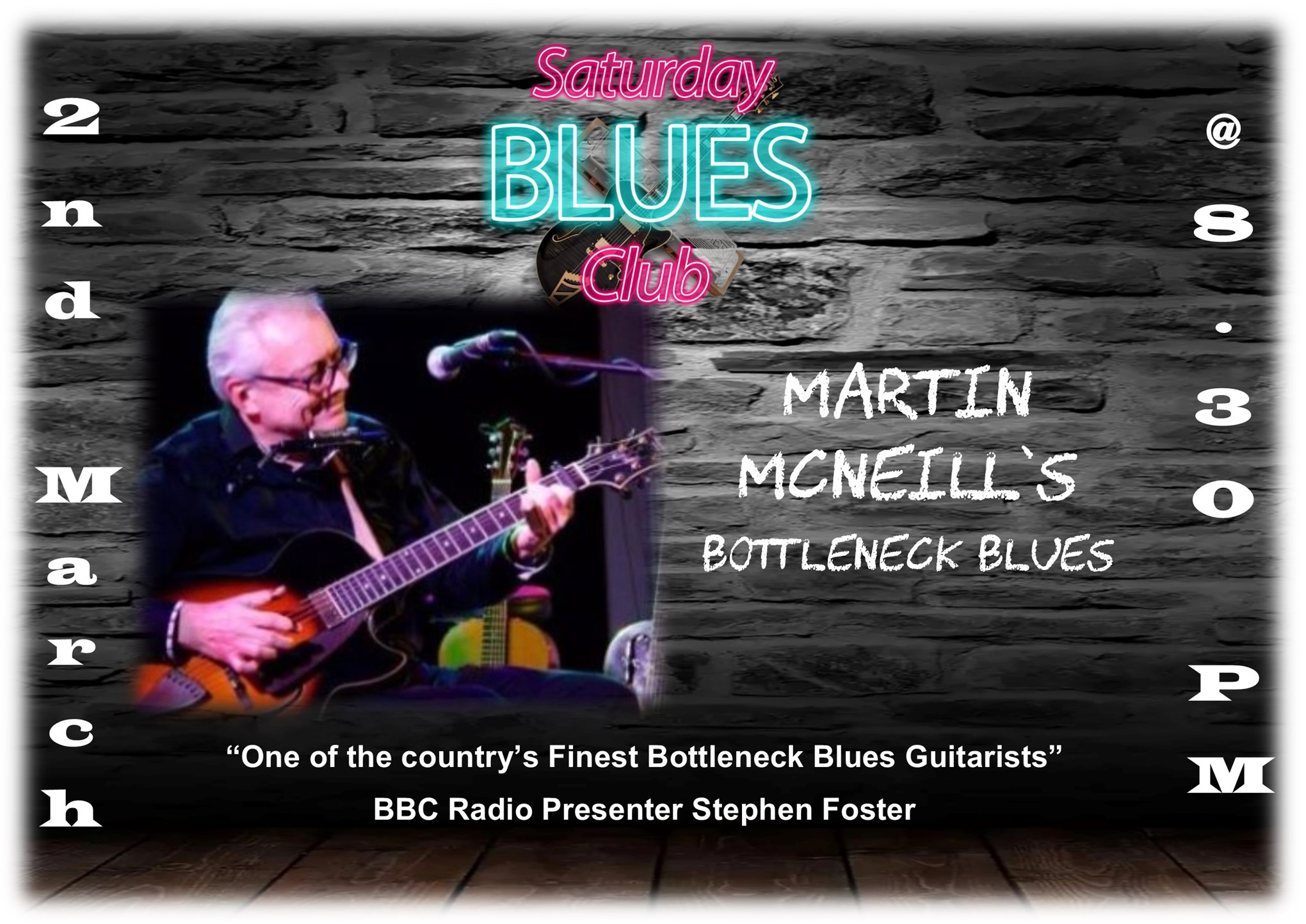 Saturday Blues Club with Martin McNeill Bottleneck Blues