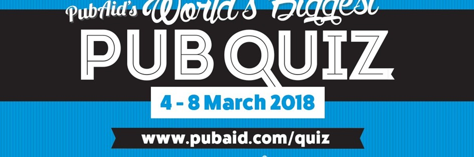 Pub Aid World Biggest Pub Quiz in support of Prostate Cancer UK