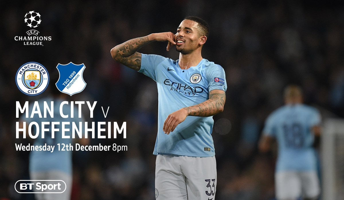 Manchester City v Hoffenheim (Champions League)