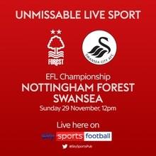 Nottingham Forest v Swansea City (Football League)