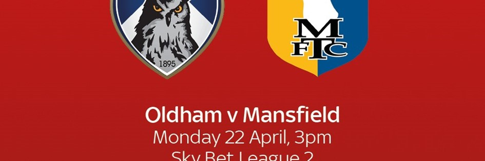 Oldham v Mansfield Town (Football League)