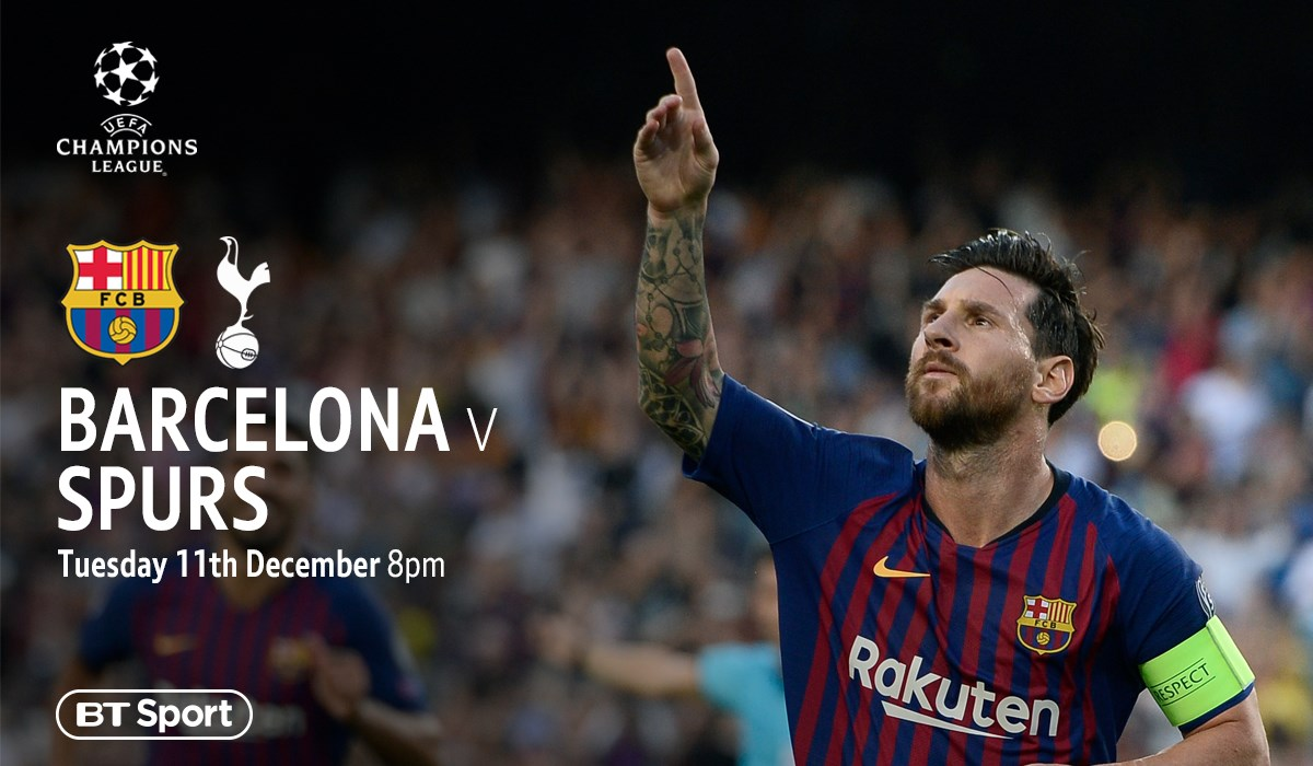Barcelona v Tottenham (Champions League)