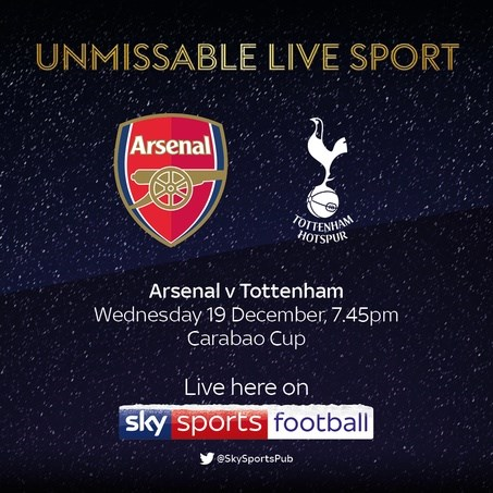 Arsenal v Tottenham Hotspur (EFL Cup)