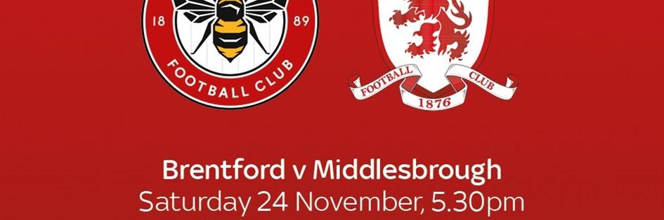 Brentford v Middlesbrough (Football League)
