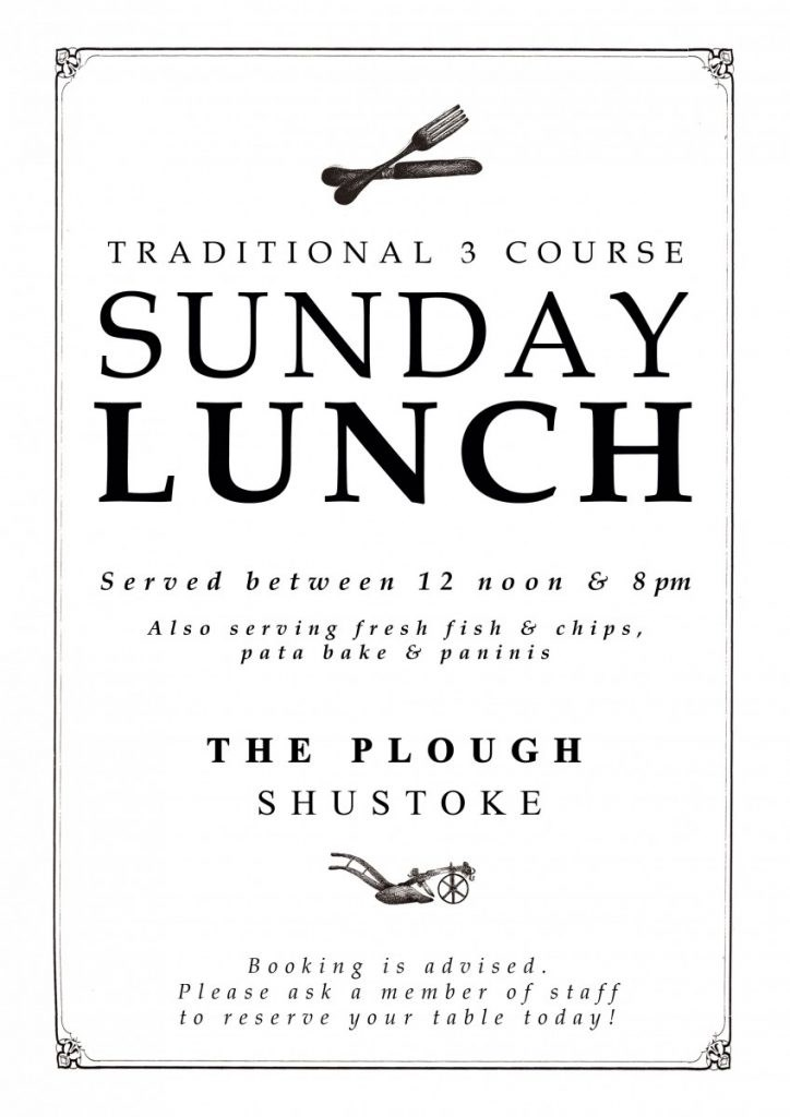 Traditional 3 Course Sunday Lunch
