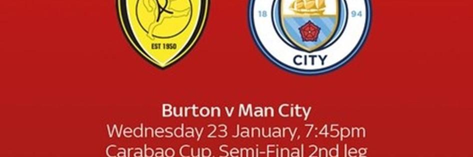 Burton Albion v Manchester City (EFL Cup)