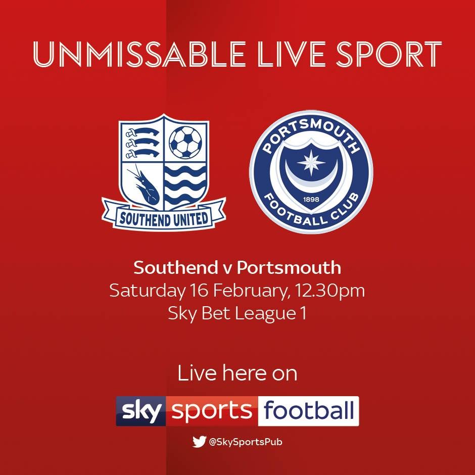 Southend v Portsmouth (Football League)