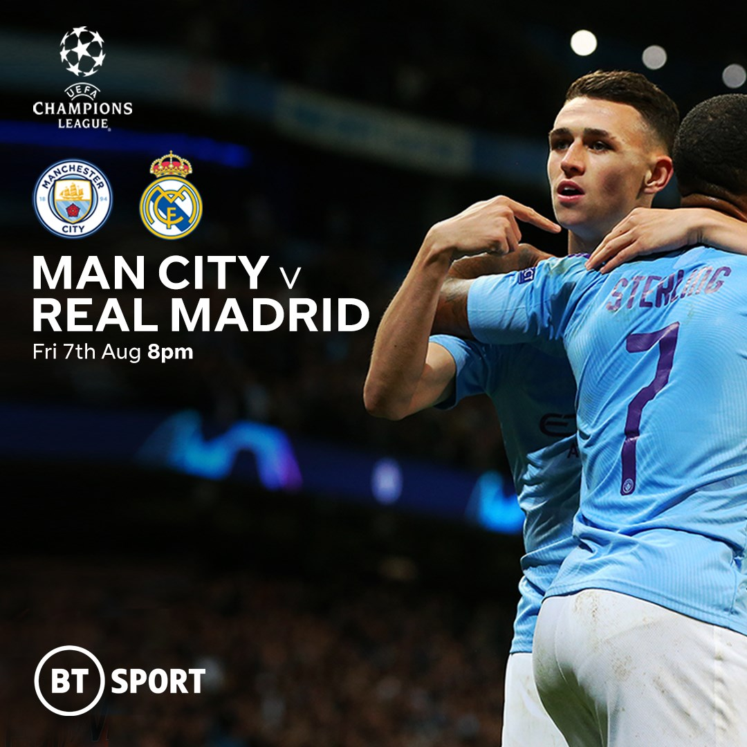 Manchester City v Real Madrid (Champions League)