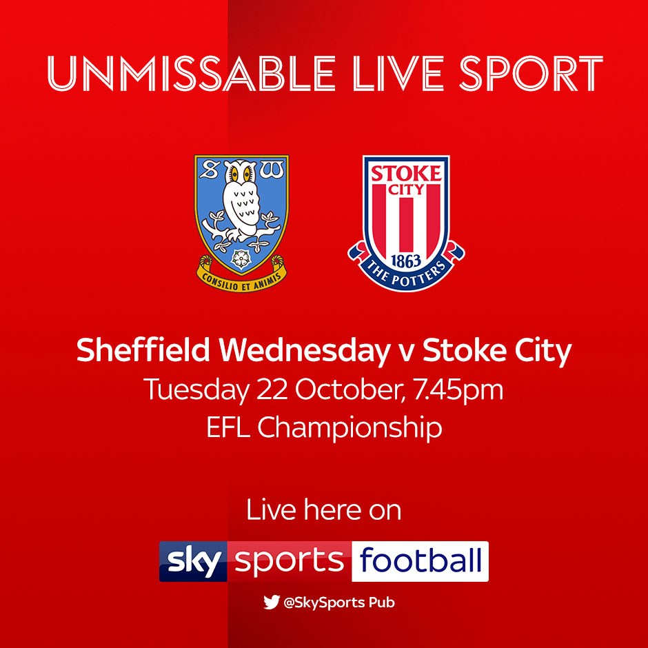 Sheffield Wednesday v Stoke City (Football League)