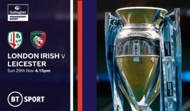 London Irish v Leicester Tigers. (Rugby Union - English Premiership)