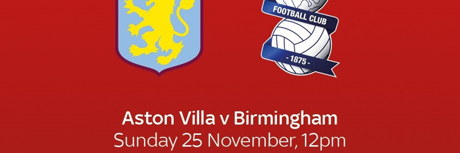 Aston Villa v Birmingham City (Premier League)