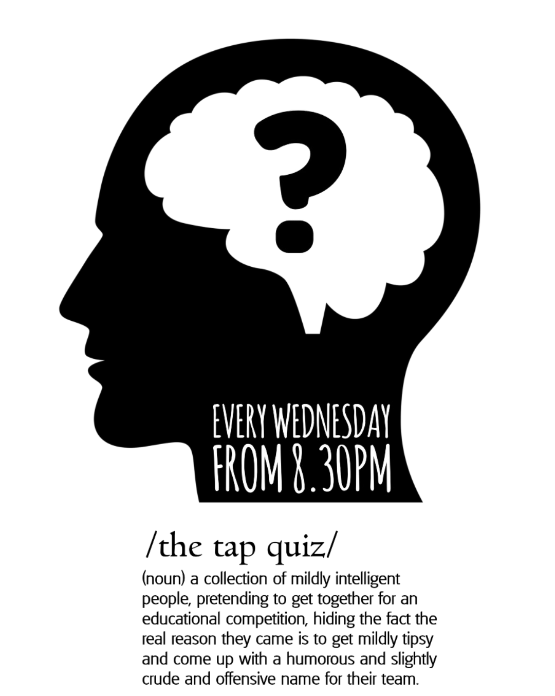 QUIZ NIGHT @ THE TAP