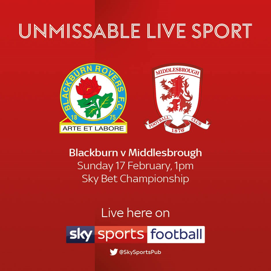 Blackburn Rovers v Middlesbrough (Football League)
