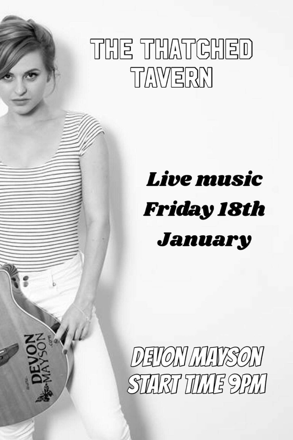 LIVE MUSIC - DEVON MASON