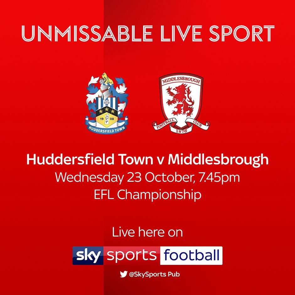 Huddersfield Town v Middlesbrough (Football League)