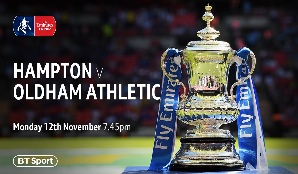 Hampton & Richmond v Oldham (FA Cup)