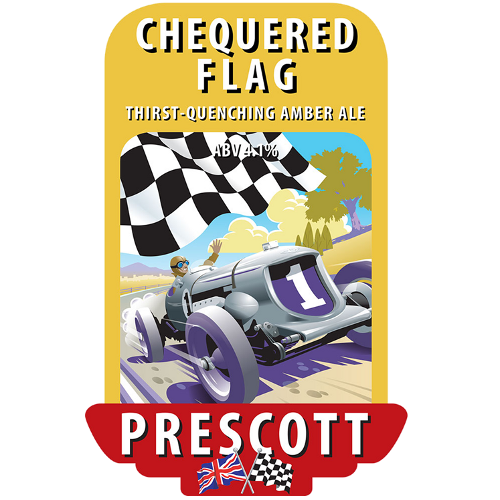 Prescott Brewery Chequered Flag