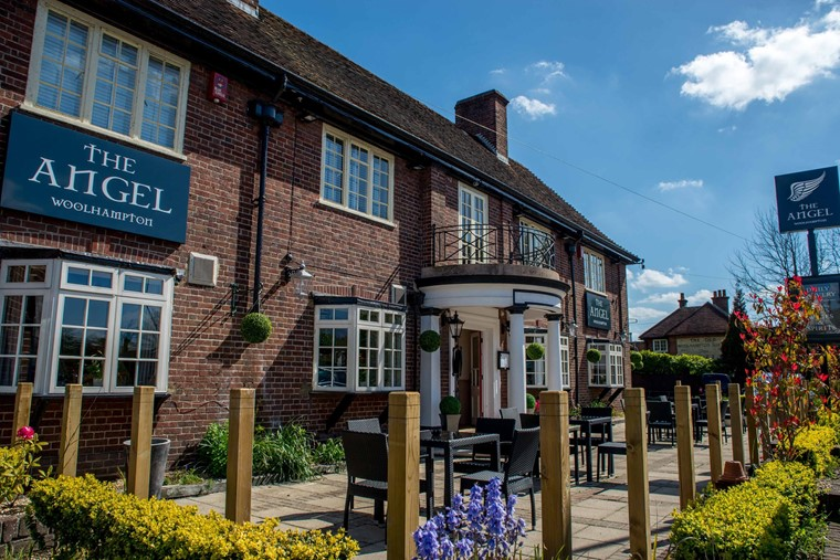 Image result for the angel inn woolhampton