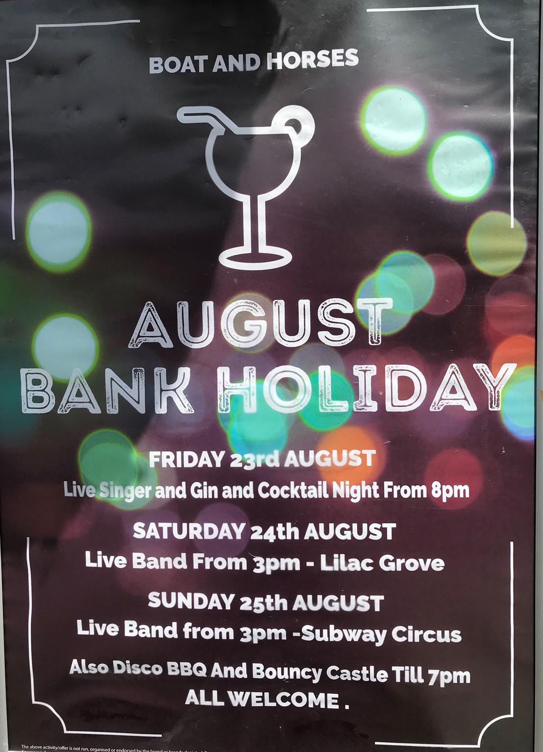 Bank Holiday - Live Music