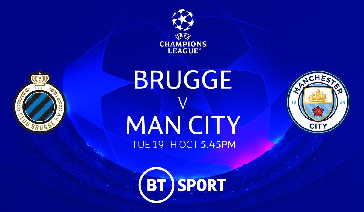 Club Brugge v Man City (Champions League)
