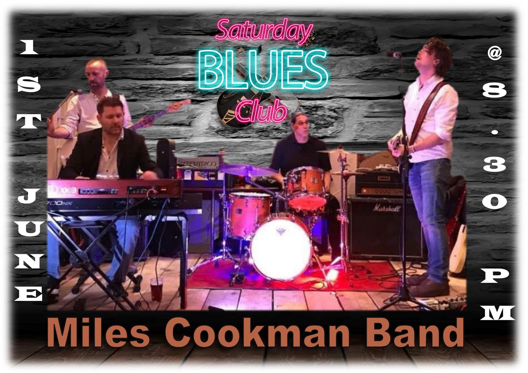 Saturday Blues Club with Miles Cookman Band