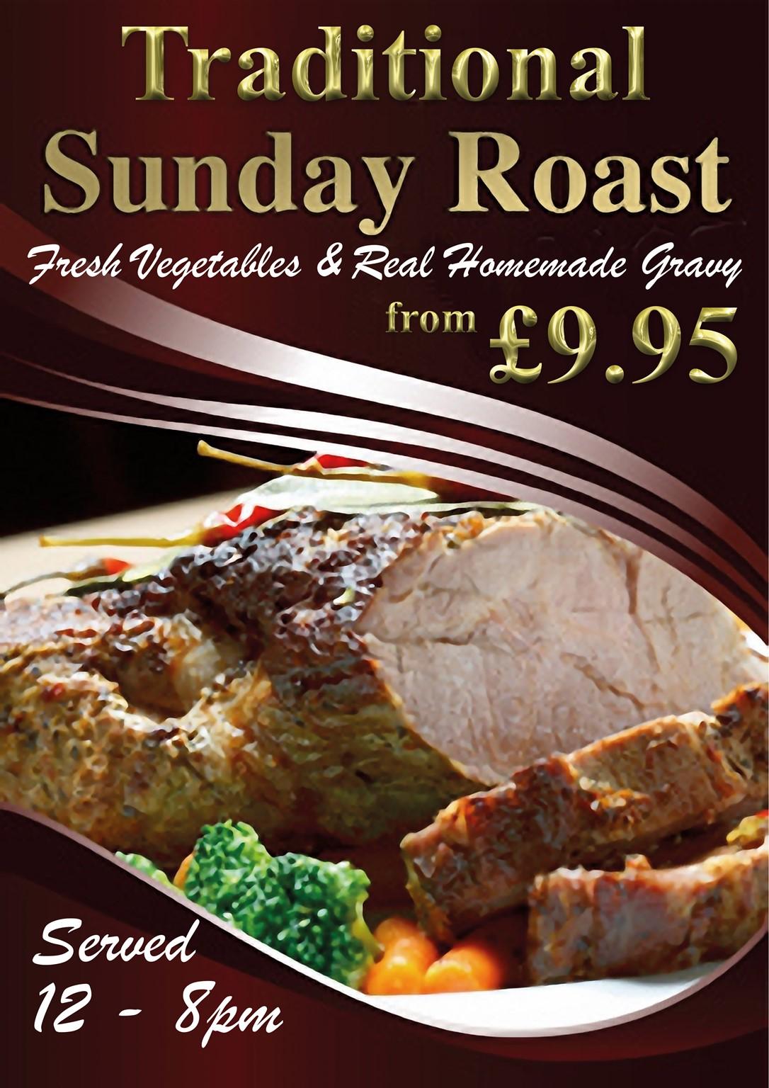 Traditional Homemade Sunday Roast Lunch