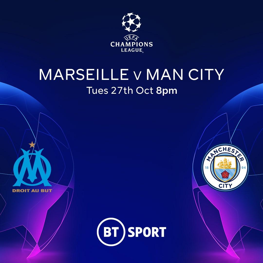 Marseille v Manchester City (Champions League)