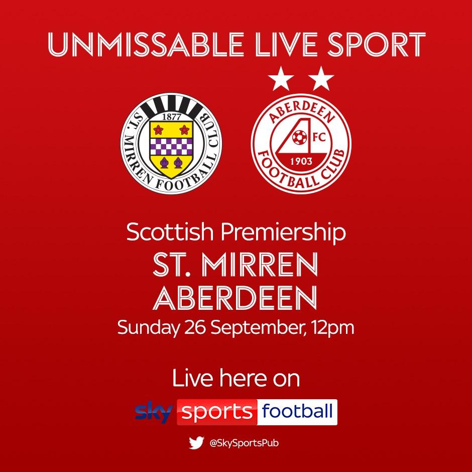 St Mirren v Aberdeen (Scottish Premier League)