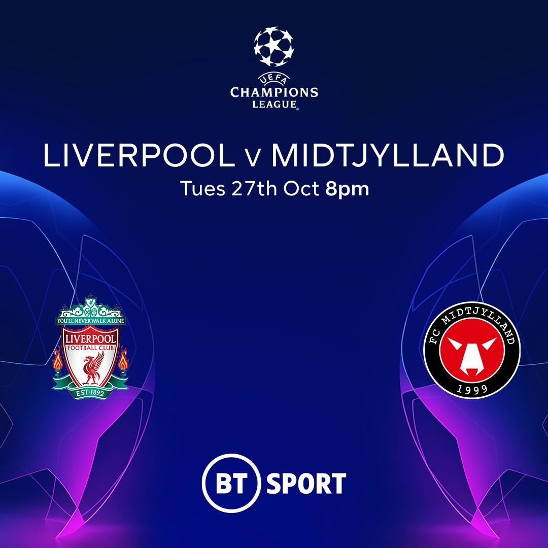 Liverpool v Midtjylland (Champions League)