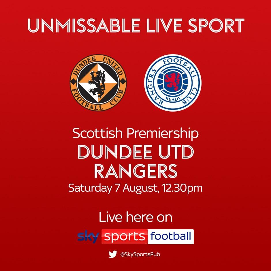 Dundee United v Rangers (Scottish Premier League)