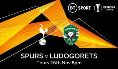 Tottenham v Ludogorets (Europa League)