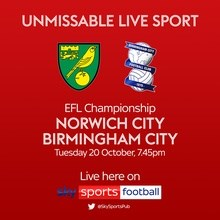 Norwich City v Birmingham City (Football League)