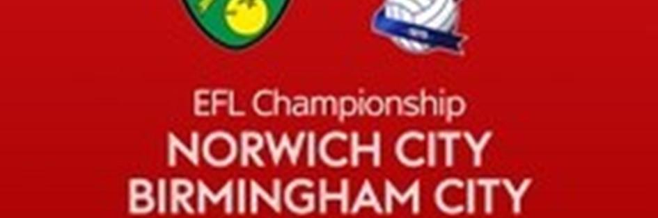Norwich City v Birmingham City (Football League)