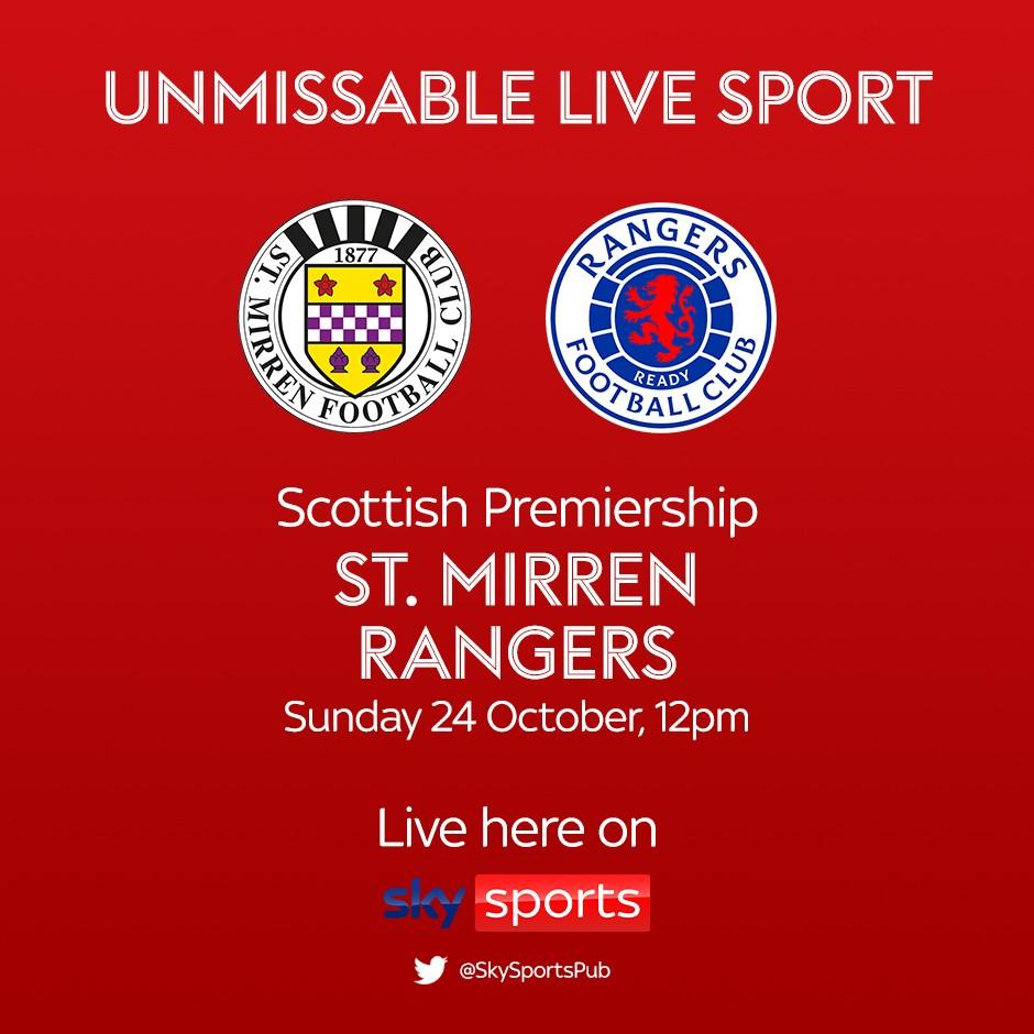 St Mirren v Rangers (Scottish Premier League)