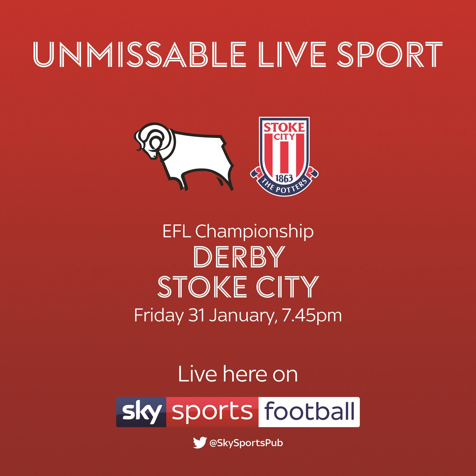Derby County v Stoke City (Football League)