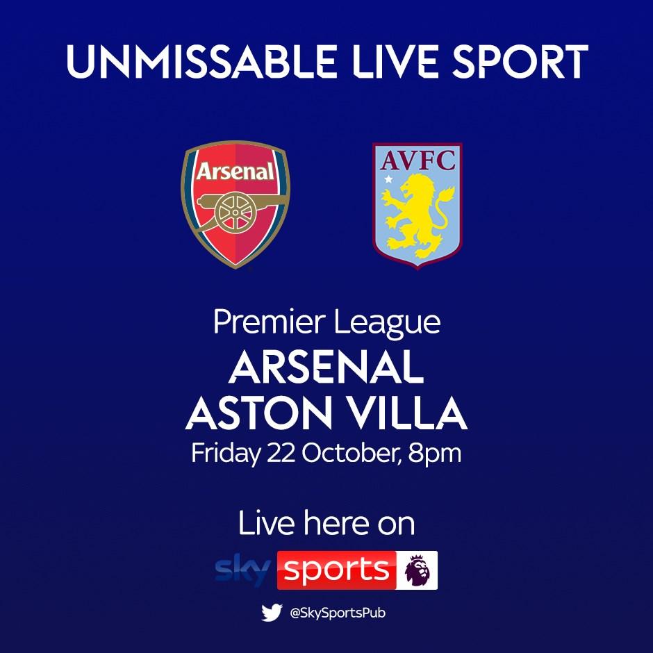 Arsenal v Aston Villa (Premier League)
