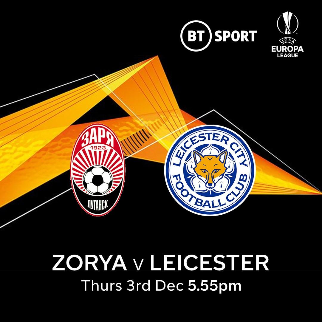Zorya Luhansk v Leicester City (Europa League)
