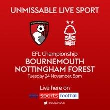 Bournemouth v Nottingham Forest (Football League)