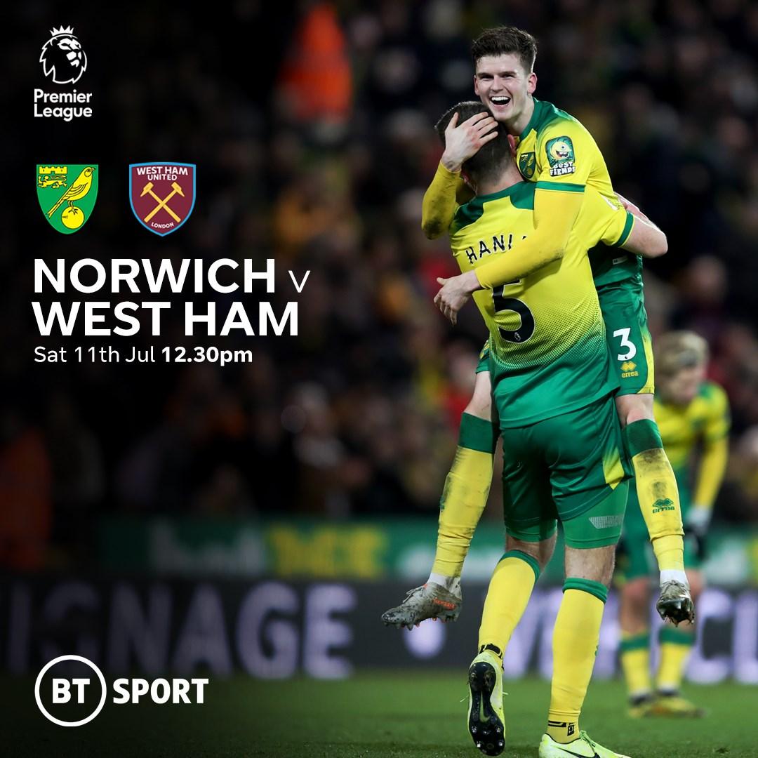 Norwich City v West Ham (Premier League)