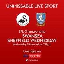 Swansea City v Sheffield Wednesday (Football League)
