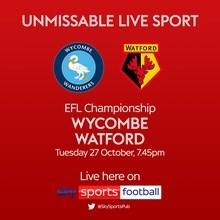 Wycombe Wanderers v Watford (Football League)