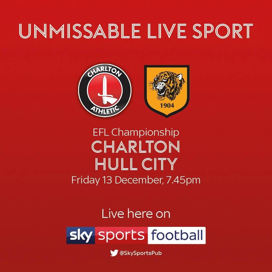 Charlton Athletic v Hull City (Football League)